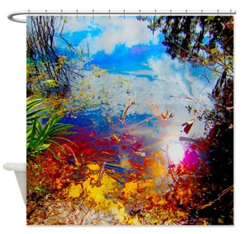 Nature Digital Psychedelic Art Print Shower Curtain