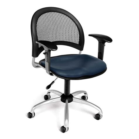 Navy Leather Chair  Ebay.