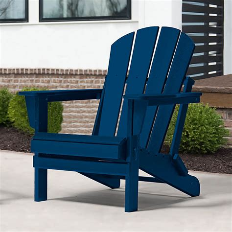 Navy Blue Plastic Adirondack Chairs