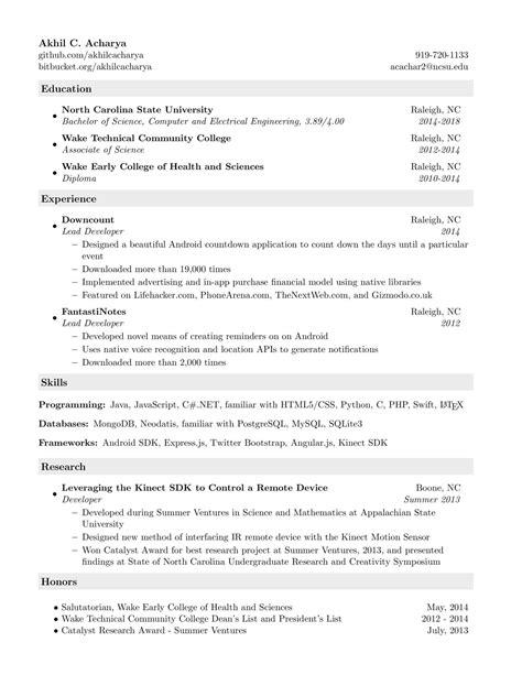 ncsu resume guide cv maker kickass