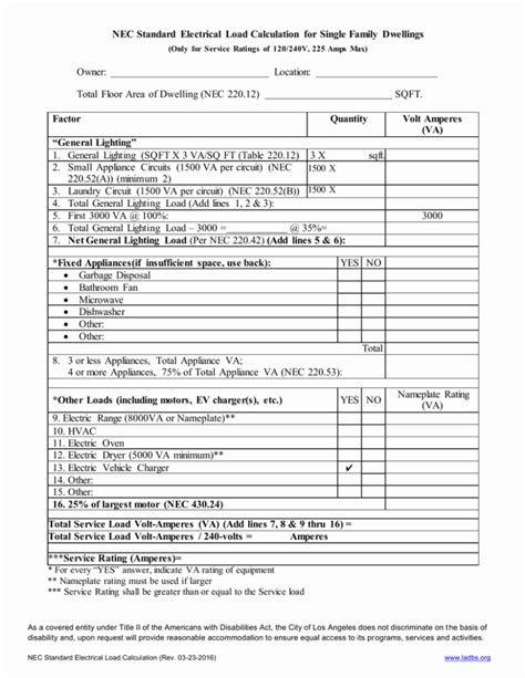 Worksheets Commercial Electrical Load Calculation Worksheet load calculation worksheet delibertad collection of residential sharebrowse