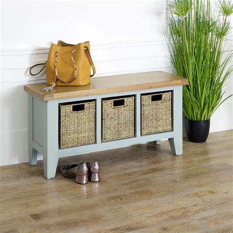 Neeley Wood Storage Bench