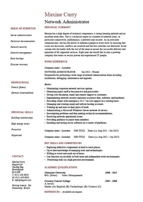 network administrator resume examples free resume examples chronological and functional resumes - Network Administrator Resume Samples