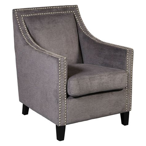 Neville Traditional Accent Armchair with Nail Head Trim