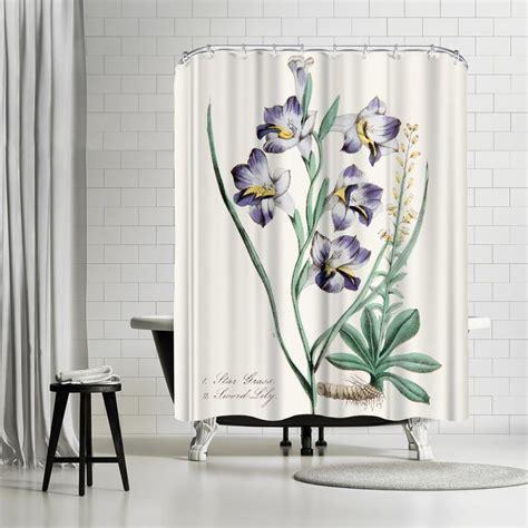 New York Botanical Garden American Flora Stargrass Shower Curtain