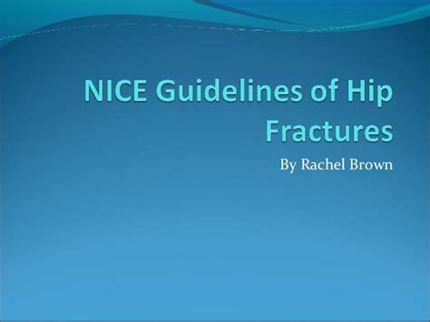nice hip guidelines