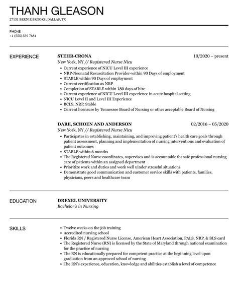 nicu job description for resume nicu nurse resume samples jobhero - Nicu Nurse Resume Sample