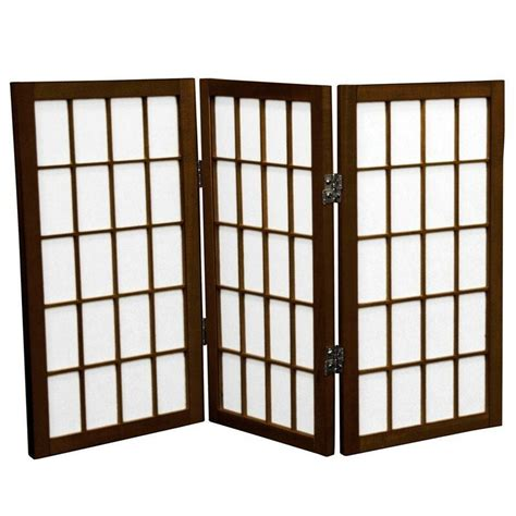Noan 26 Window Tall Desktop Pane Shoji Room Divider