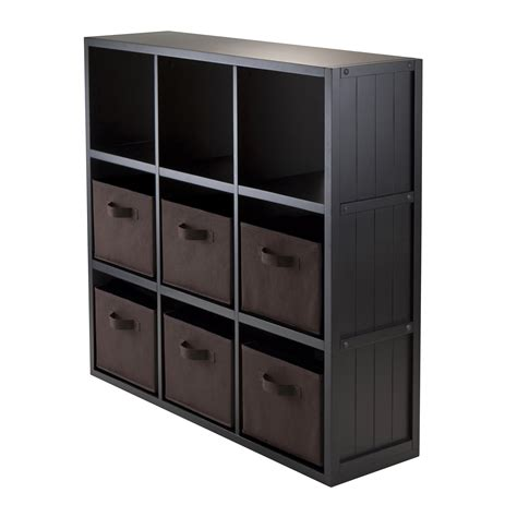 Noma 3 x 3 Cube Shelf with Baskets