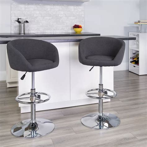 Nordin Adjustable Height Swivel Bar Stool