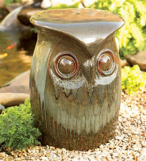 Noreen Owl Garden Stool