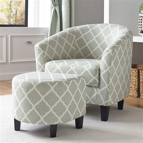 Northumberland 2 Piece Upholstered Barrel Chair and Ottoman Set