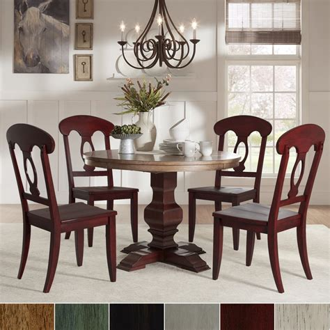 Northview Coin Solid Wood Dining Chair (Set of 2)