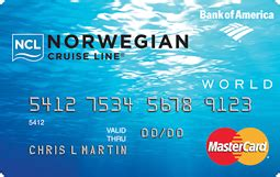 Credit Card Access Line Norwegian Cruise Liner World Mastercardr Credit Card
