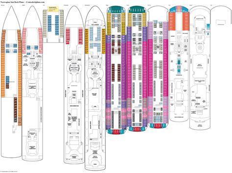 Norwegian Sun Deck Plan