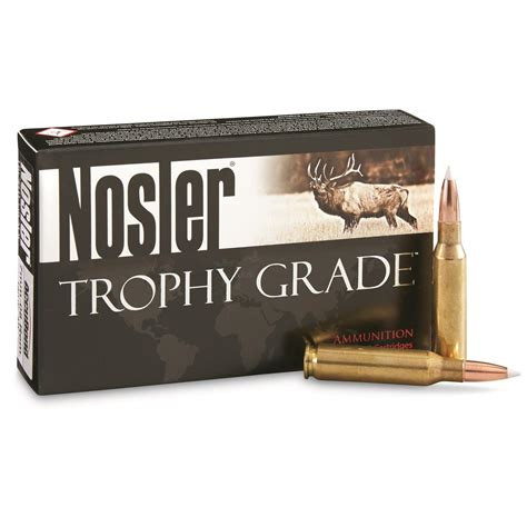 Ammunition Nosler Trophy Grade Ammunition 7mm-08 Remington 140 Grain Accubond.