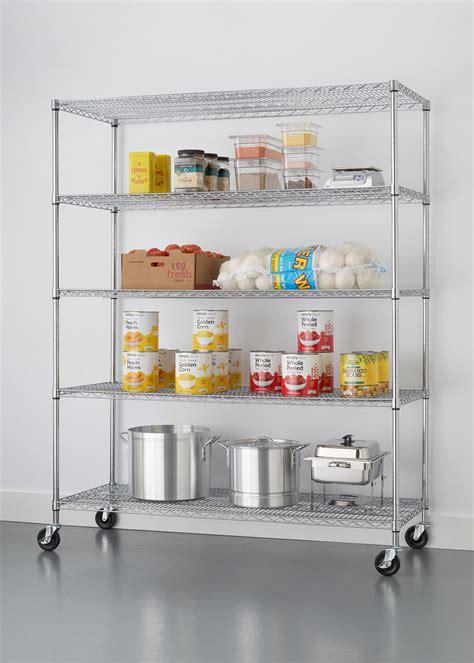 NSF Extra Large Commercial Grade 77 H 5 Shelf Shelving Unit
