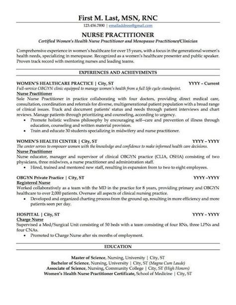 resume example nurse practitioner nurse practitioner resume best sample resume - Sample Nurse Practitioner Resume