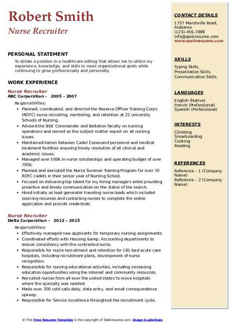 corporate recruiter resumes