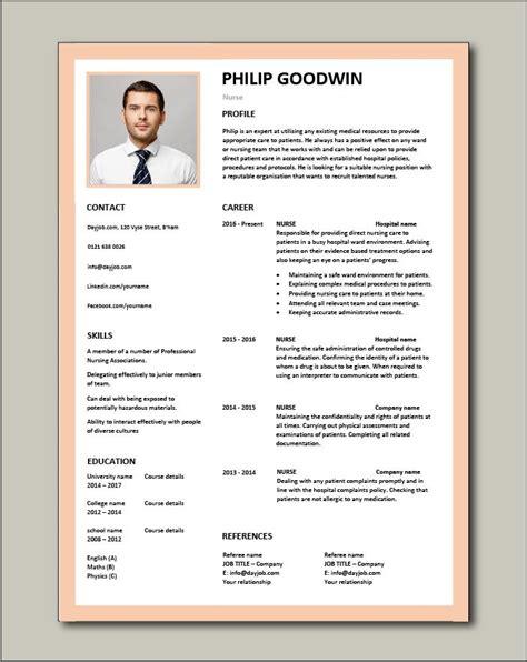 Nurse Resume Sample Uk Jobzpk Cv Templates Download Free Sample Resume Cover