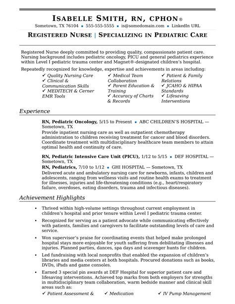 list of nursing skills for resumes