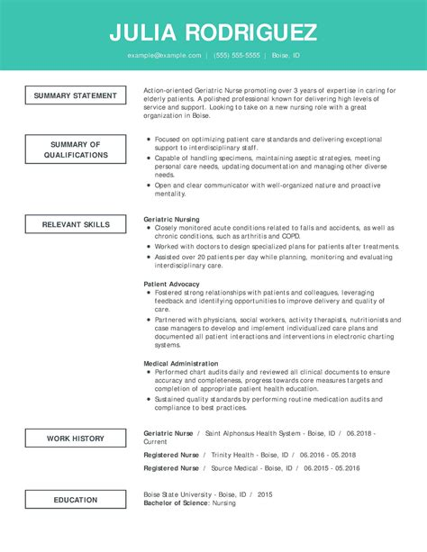 Nurse Resume Sample Uk Resume Examples Cv Examples Alec