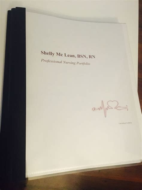 Nursing Resume Portfolio Nursing Portfolio How To Create Examples And What Is It