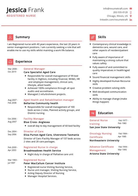 nursing resume template doc the basic resume template in pdf word excel format are