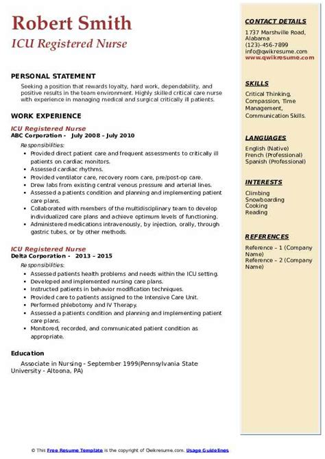 Nursing Resume Reference Page Top 10 Details To Include On A Nursing Resume Rn Resume