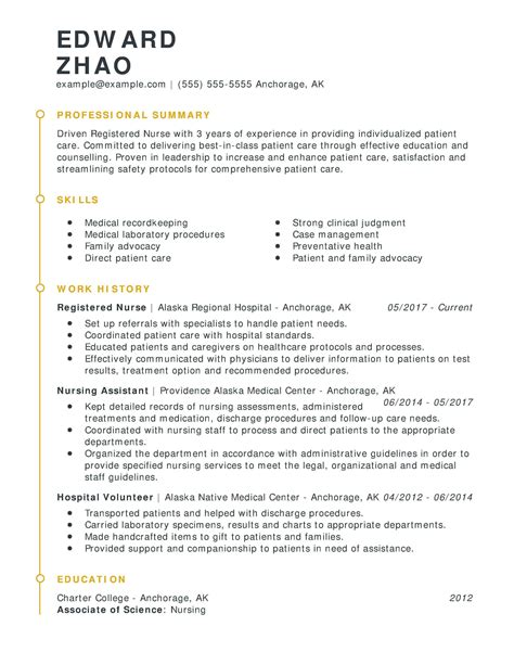 nursing resumes skills nursing resume tips and samples to nuture your career - Nurse Resume Tips