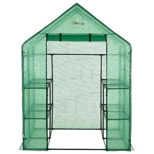 Ogrow Og6868-Pe Deluxe Walk-In 2 Tier 8 Shelf Portable .