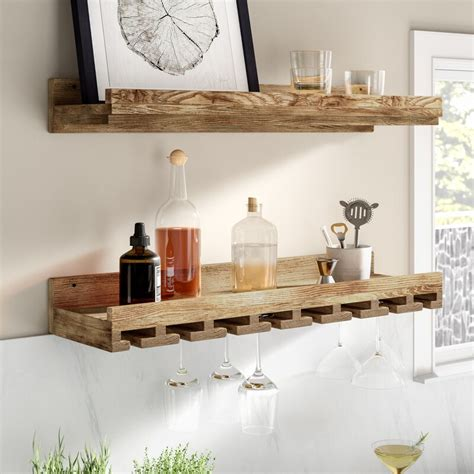 Oconner Wall Mounted Wine Glass Rack (Set of 2)