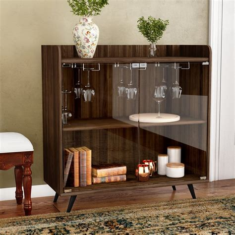 Octavio Glass Door Bar Cabinet