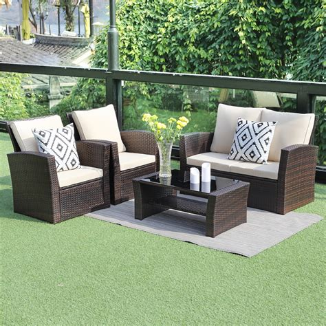 Odina Outdoor Brown Recliner With Cushion - Walmart Com.