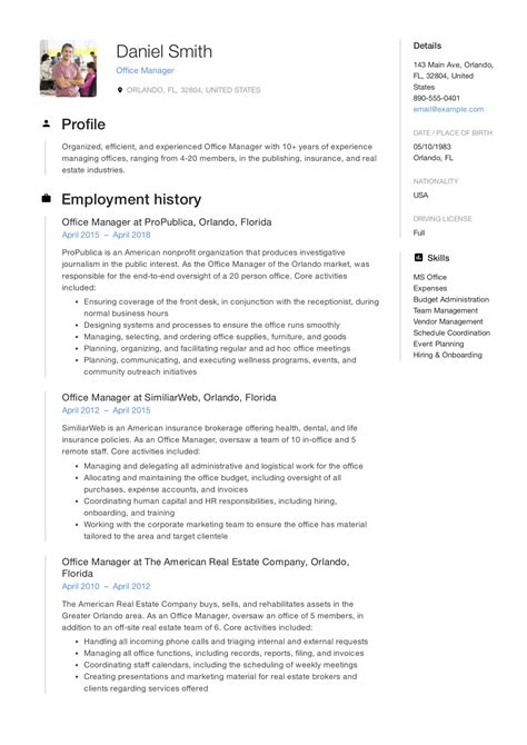 office administrator resume examples resume samples free sample resume examples - Office Administrator Resume Sample