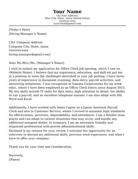 Office Job Cover Letter Sample Office Assistant Cover Letter Sample