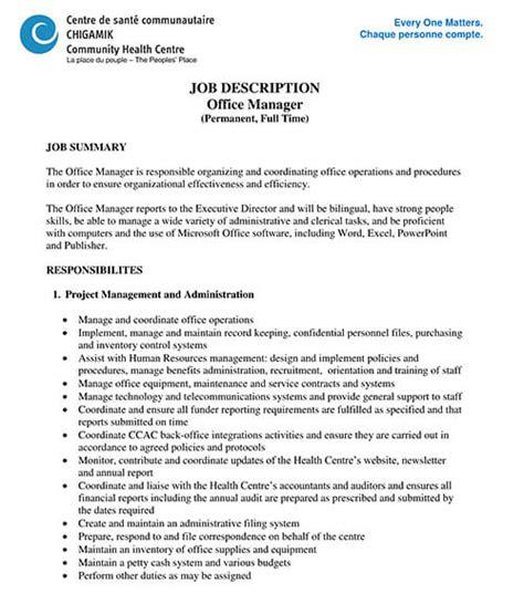 dental office manager resume sample office manager job description job interviews interview