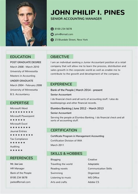 wps office resume template