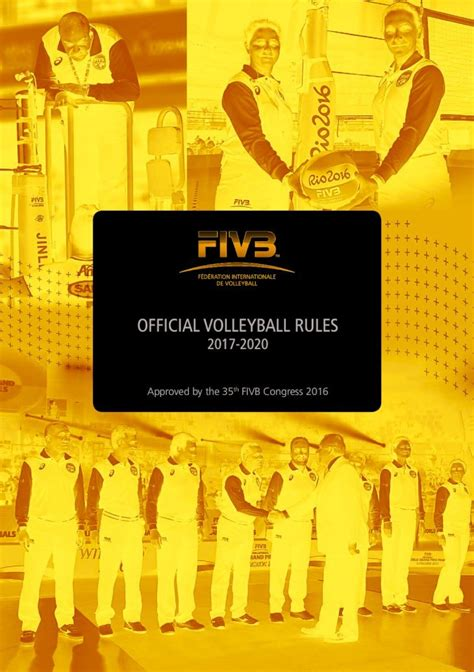 Court Audience Attire Official Volleyball Rules Fivb Rule Book 2017 20