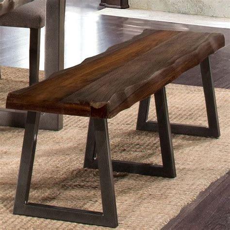 Okmulgee Metal/Wood Bench