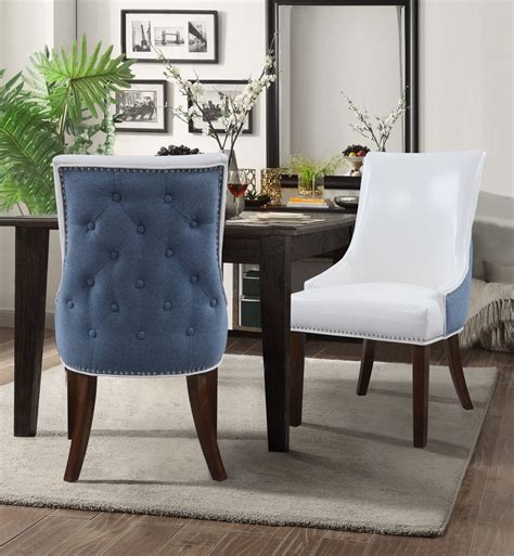 Old Lyme Skirted Upholstered Fabric Dining Chair