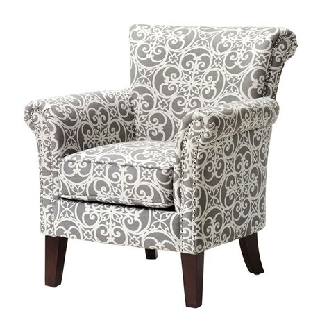 Olson Accent Club Chair with Arms Upholstered Silver Nail Head