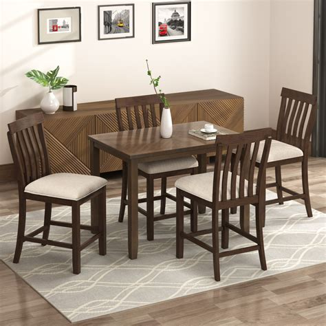 Olu Counter Height Upholstered Dining Chair (Set of 4)