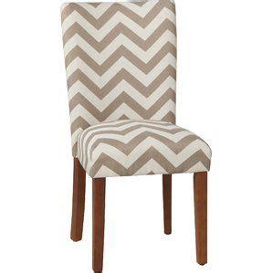 Olwanda Chevron Parsons Chair (Set of 2)