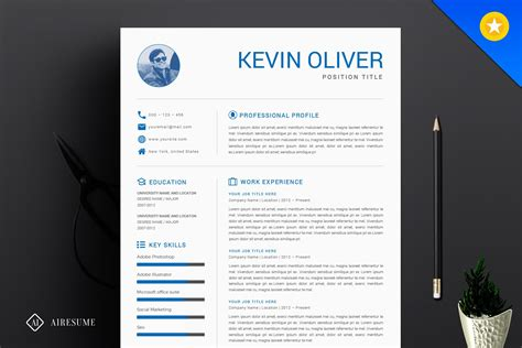 one page resumes examples modern resume templates 64 examples free download - One Page Resume Template