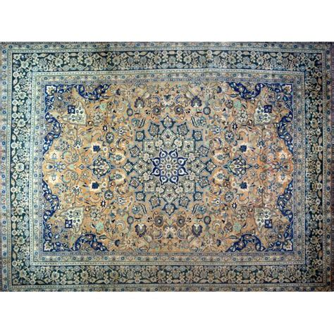 One-of-a-Kind Harrell Hand-Knotted Wool Blue/Beige Area Ru by
