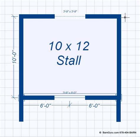 One Stall Horse Barn Plans