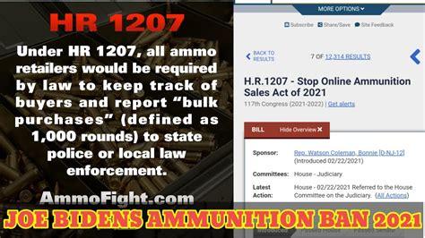 Ammunition Online Ammunition Sales Act.