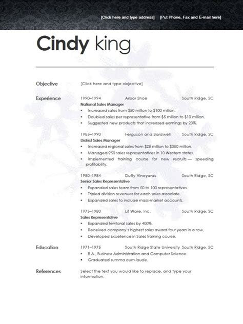open resume template word 2007 welcome to free resumetemplate