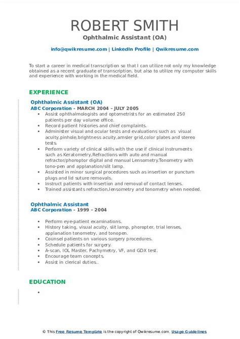 resume cover letter for ophthalmic technician ophthalmic technician free sample resume job bank usa ophthalmic - Ophthalmic Technician Cover Letter